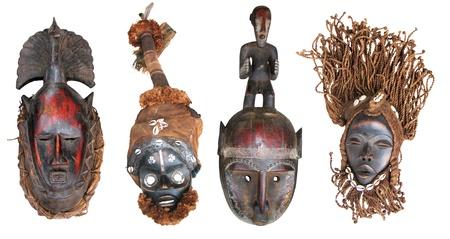 Le maschere originali africani, reso in modo tradizionale