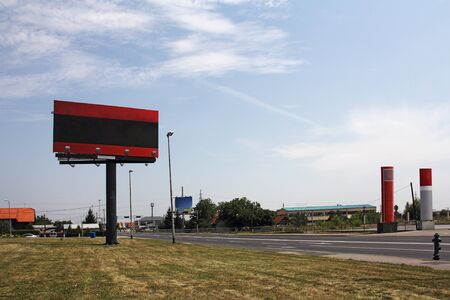 Billboards at the intersection of street Stock Photo - 14383108