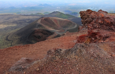Etna volcano craters in Sicily, Italy photo