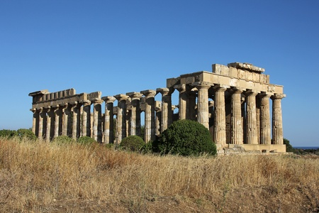 The largest Greek temple in Selinus, Sicily
