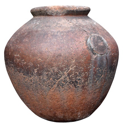 Die antike römische Tongefäße zur Aufbewahrung von Wein Standard-Bild