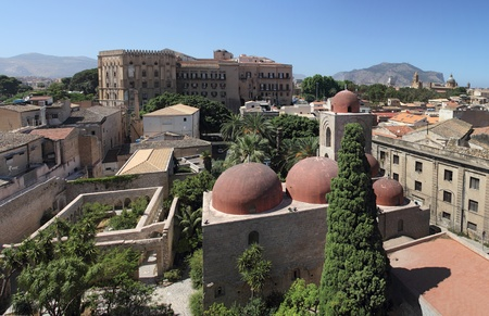 palermo italy: Palermo with panoramic views of the Norman palace