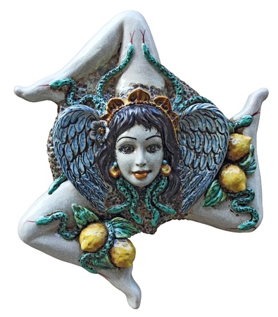 A ceramic trinacria, traditional souvenirs of Sicily