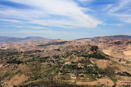 Calascibetta is a small town in the center of Sicily Stock Photo - 14518183