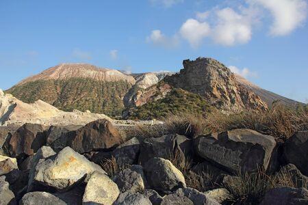 vulcano: Volcano on the island of Vulcano, Sicily  Stock Photo
