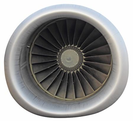 Jet passeggeri velivoli con motore isolato su sfondo bianco