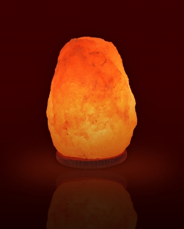 Himalayan salt as a pleasant soothing night lamp