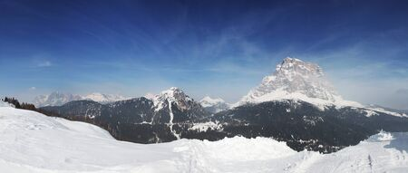Winter panorama ski resort Civetta, Dolomites, Italy photo