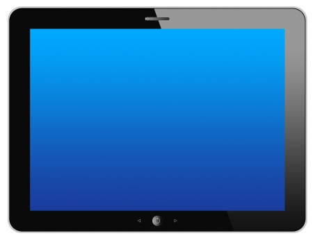 Black tablet computer  tablet pc  on white background