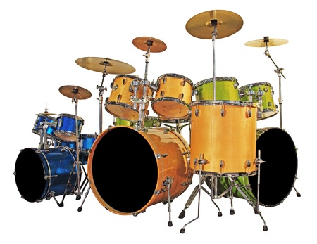 bass drum: Three set drums
