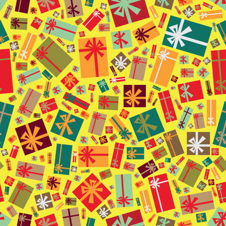 Colorful gift packages as a seamless background Vector