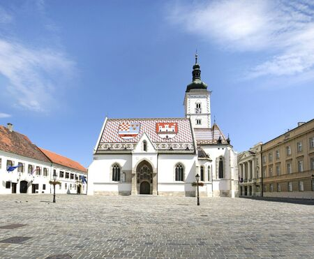 St. Marks Church is one of the oldest building monuments in Zagreb Croatia photo