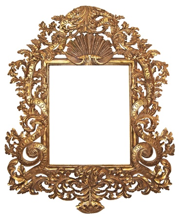 Old gilded wooden frame for mirrors