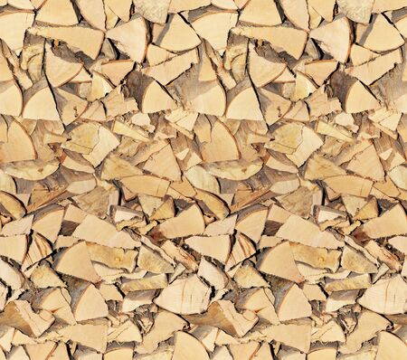 Texture of wooden trunks used as seamless wallpaper photo