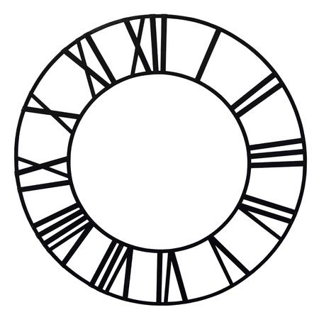 numeros romanos: El dial de reloj de la iglesia vieja aislado sobre fondo blanco