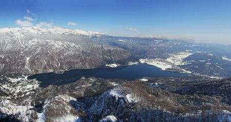 Lake Bohinj below the highest Slovenian mountain Triglav Stock Photo - 18576203