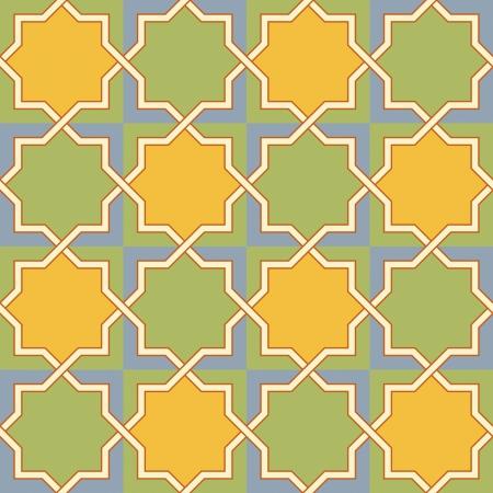 Multicolor Arabic Byzantine seamless pattern vector illustration
