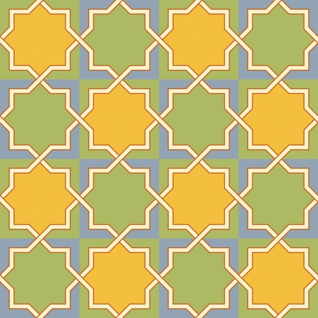 Multicolor Arabic Byzantine seamless pattern vector illustration