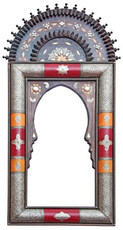 Antique Moroccan mirror frame photo