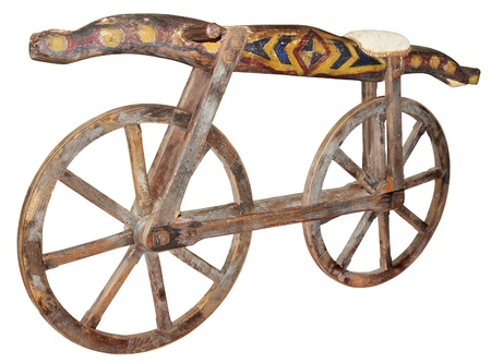18th century: Old wooden bike made in late 18th century