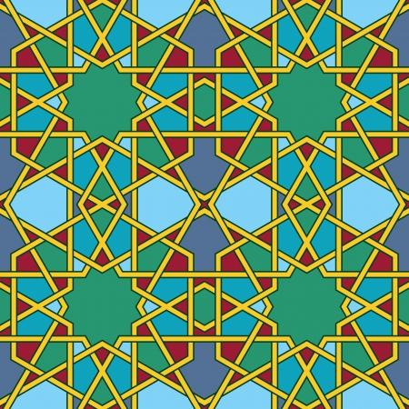 Multicolored Arabic Byzantine seamless pattern vector illustration