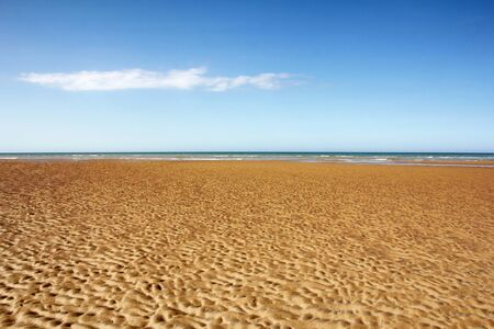 Sandy beach, Omaha Beach, the D-Day beaches of Normandy, France photo