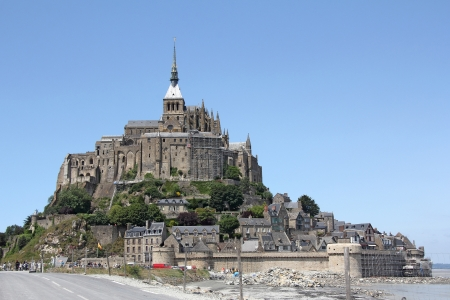 michel: Le Mont Saint Michel Abbey, Normandy   Brittany, France Stock Photo