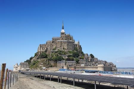 Le Mont Saint Michel, Normandia, Bretagna, Francia