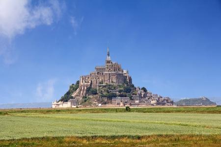 michel: Le Mont Saint Michel Abbey, Normandy Brittany, France Stock Photo
