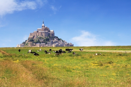 Le Mont Saint Michel Abbey, Normandy   Brittany, France Stock Photo