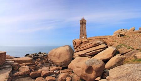 granit: Pors Kamor lighthouse, Ploumanac