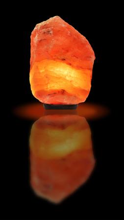 salt lamp: Piece of Himalayan salt as a lamp  Stock Photo