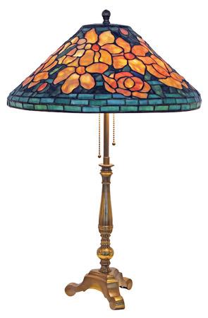 Lampada da tavolo Tiffany isolato su sfondo bianco