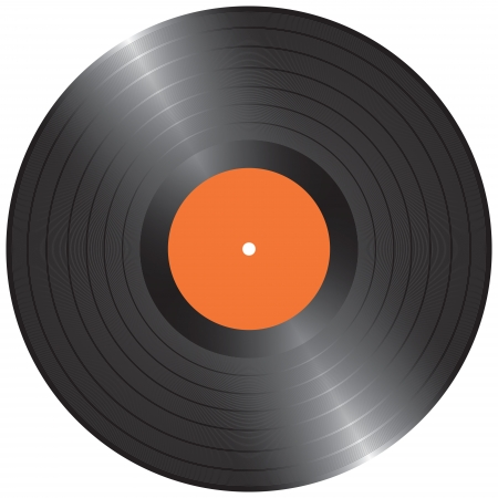 Blank Black LP vinyl record vector illustration Illustration