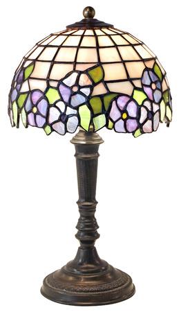 Tiffany Tischlampe isoliert auf weißem Hintergrund