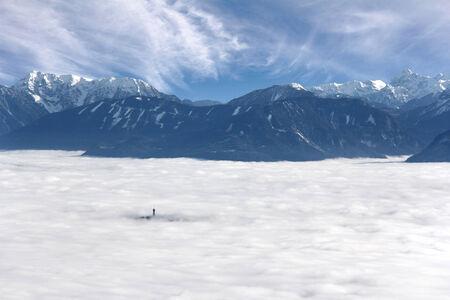 karavanke: View from Gerlitzen mountain Karawanke, above the clouds