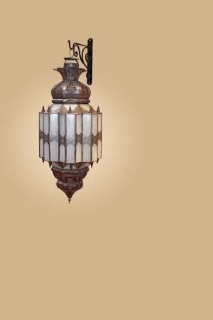 Traditional Arab Moroccan wall lamp Stock Photo - 25284163