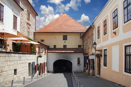 자그레브 돌 문, 도시의 가장 유명한 상징 중 하나 스톡 콘텐츠