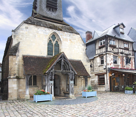 abbeys: Sea museum Honfleur, a small medieval harbor in Normandy, France
