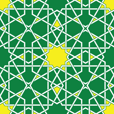 byzantine: Green Arabic Byzantine seamless pattern Illustration