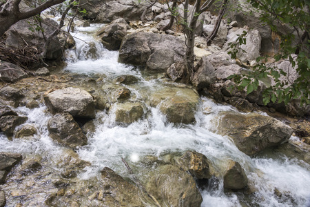 Beautiful mountain stream located in the Paklenica National Park in Croatia Stock Photo