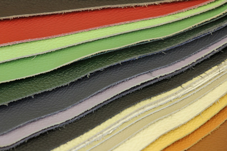 leather background: Samples of color of Leather for upholstery the furniture