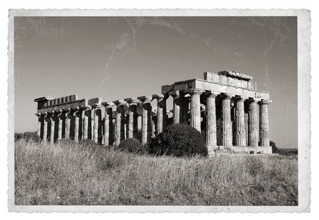 Vintage photos with The largest Greek temple in Selinus, Sicily