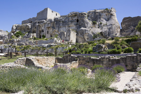 des: The castle of Chateau des Baux de Provence, France, Europe Editorial