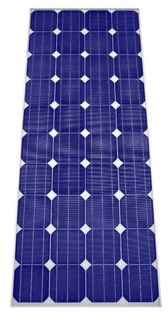 solarcell: Solar panel Isolated on white background Clipping Path Stock Photo