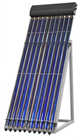 roof: Solar Vacuum Collector Isolated on white background with Clipping Path