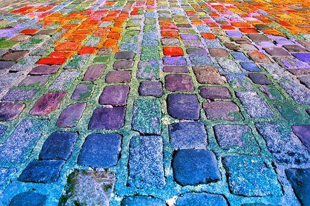 piso piedra: Antecedentes de colorido textura de suelo de piedra.