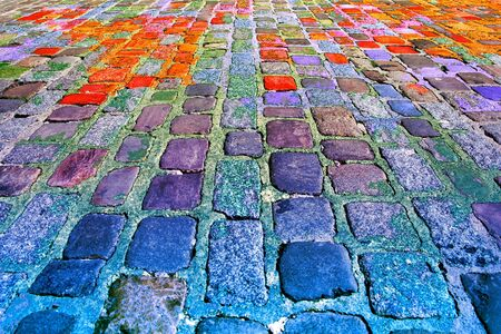 stone floor: Background of colourful texture of stone floor.