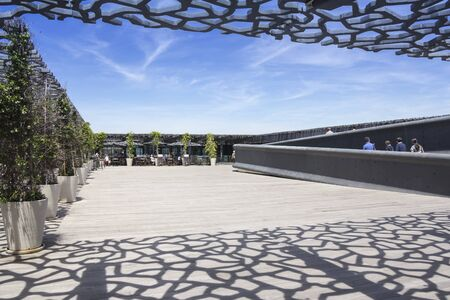 ethnology: Marseille, France - June 21, 2015: Building of Museum of European and Mediterranean Civilizations Editorial