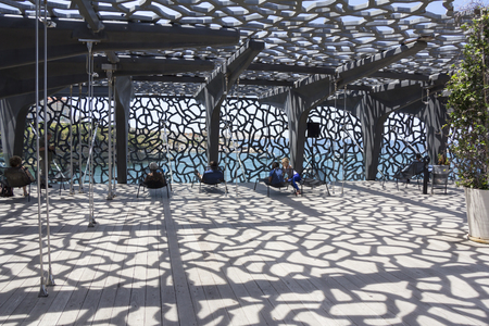 Marseille, France - June 21, 2015: Building of Museum of European and Mediterranean Civilizations Editorial
